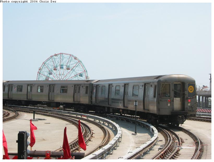 (63k, 820x620)<br><b>Country:</b> United States<br><b>City:</b> New York<br><b>System:</b> New York City Transit<br><b>Location:</b> Coney Island/Stillwell Avenue<br><b>Route:</b> Q<br><b>Car:</b> R-68A (Kawasaki, 1988-1989)  5106 <br><b>Photo by:</b> Chris Der<br><b>Date:</b> 5/23/2004<br><b>Viewed (this week/total):</b> 3 / 3863