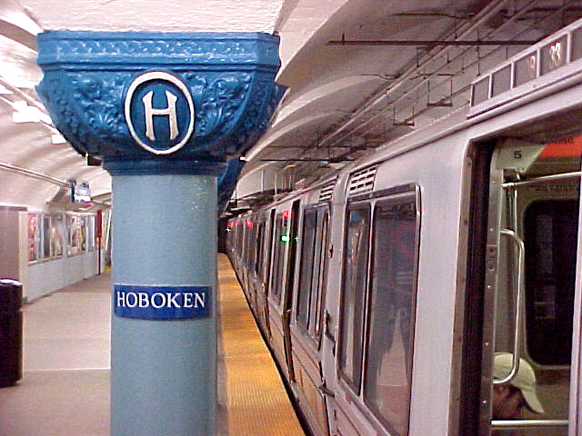(252k, 640x480)<br><b>Country:</b> United States<br><b>City:</b> Hoboken, NJ<br><b>System:</b> PATH<br><b>Location:</b> Hoboken <br><b>Car:</b> PATH PA  <br><b>Photo by:</b> Elias Thienpont<br><b>Date:</b> 7/23/2001<br><b>Viewed (this week/total):</b> 0 / 3746