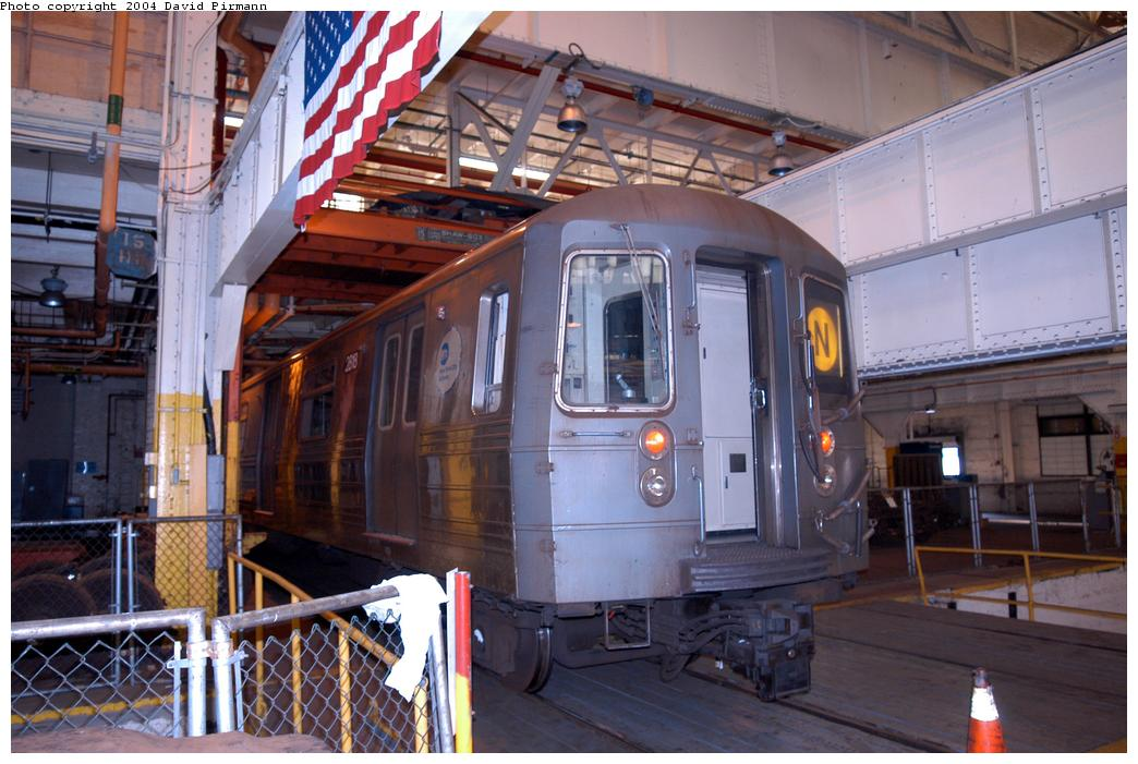(158k, 1044x701)<br><b>Country:</b> United States<br><b>City:</b> New York<br><b>System:</b> New York City Transit<br><b>Location:</b> Coney Island Shop/Overhaul & Repair Shop<br><b>Car:</b> R-68 (Westinghouse-Amrail, 1986-1988)  2818 <br><b>Photo by:</b> David Pirmann<br><b>Date:</b> 6/13/2004<br><b>Viewed (this week/total):</b> 1 / 2917