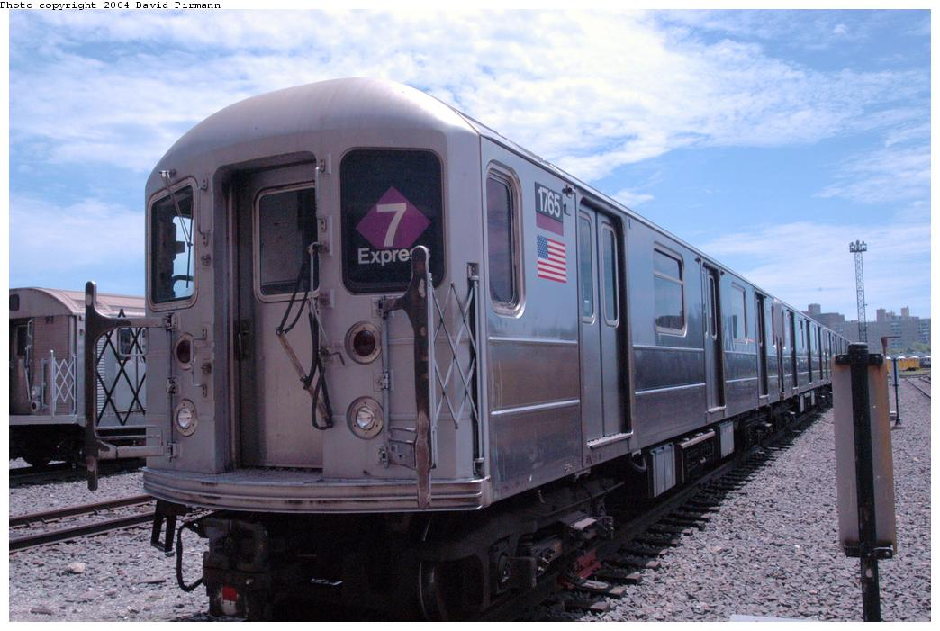 (160k, 1044x701)<br><b>Country:</b> United States<br><b>City:</b> New York<br><b>System:</b> New York City Transit<br><b>Location:</b> Coney Island Yard<br><b>Car:</b> R-62A (Bombardier, 1984-1987)  1765 <br><b>Photo by:</b> David Pirmann<br><b>Date:</b> 6/13/2004<br><b>Viewed (this week/total):</b> 8 / 3382