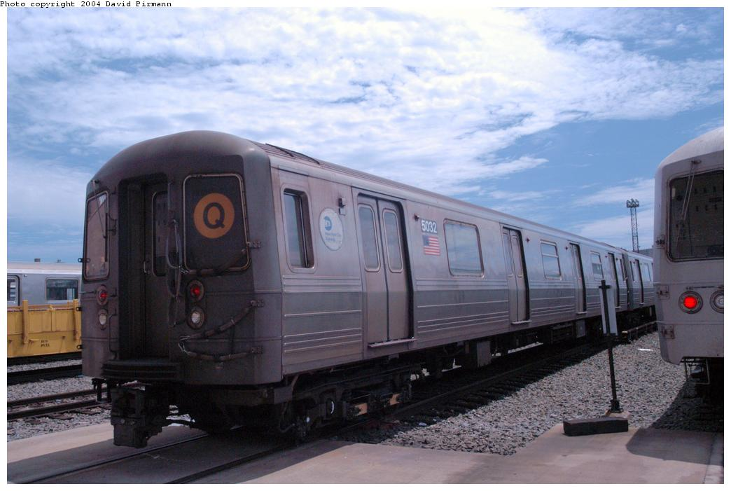(138k, 1044x701)<br><b>Country:</b> United States<br><b>City:</b> New York<br><b>System:</b> New York City Transit<br><b>Location:</b> Coney Island Yard<br><b>Car:</b> R-68A (Kawasaki, 1988-1989)  5032 <br><b>Photo by:</b> David Pirmann<br><b>Date:</b> 6/13/2004<br><b>Viewed (this week/total):</b> 2 / 3220
