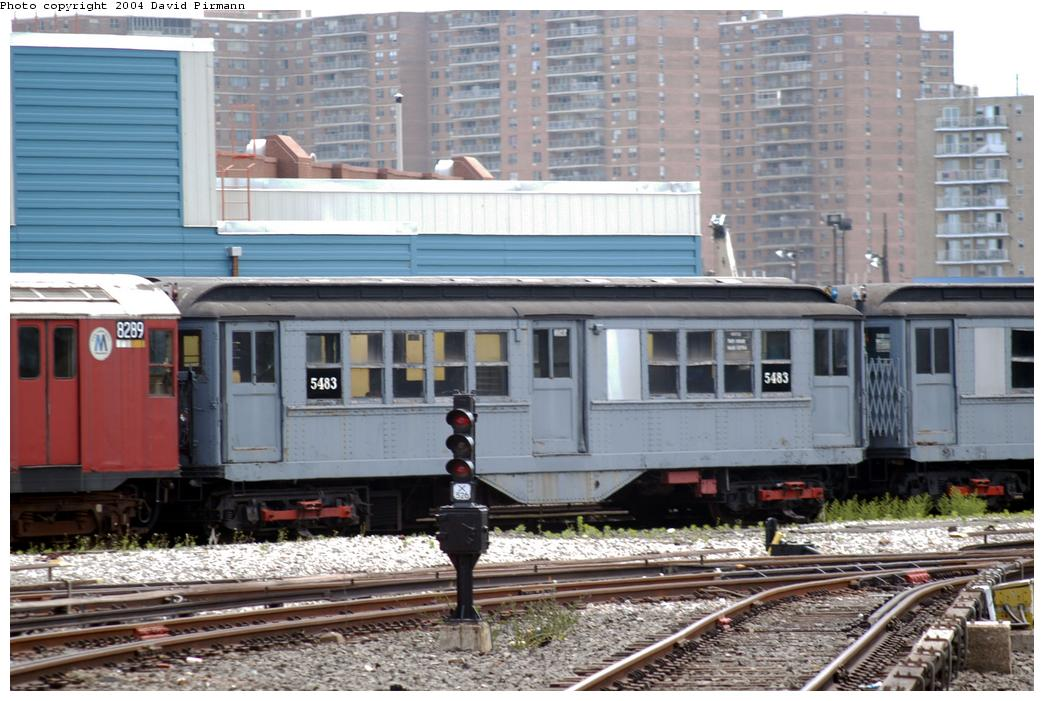 (174k, 1044x701)<br><b>Country:</b> United States<br><b>City:</b> New York<br><b>System:</b> New York City Transit<br><b>Location:</b> Coney Island Yard-Museum Yard<br><b>Car:</b> Low-V (Museum Train) 5483 <br><b>Photo by:</b> David Pirmann<br><b>Date:</b> 6/13/2004<br><b>Viewed (this week/total):</b> 1 / 5426