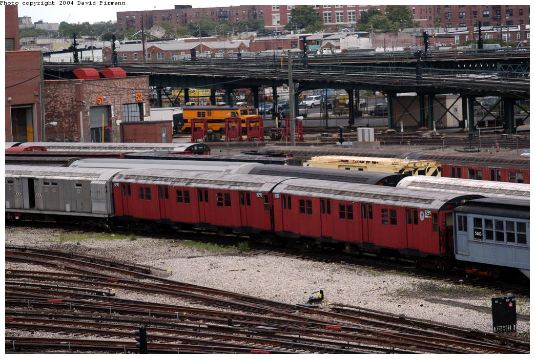 (198k, 1044x701)<br><b>Country:</b> United States<br><b>City:</b> New York<br><b>System:</b> New York City Transit<br><b>Location:</b> Coney Island Yard-Museum Yard<br><b>Car:</b> R-30 (St. Louis, 1961) 8289/8290 <br><b>Photo by:</b> David Pirmann<br><b>Date:</b> 6/13/2004<br><b>Viewed (this week/total):</b> 3 / 4863