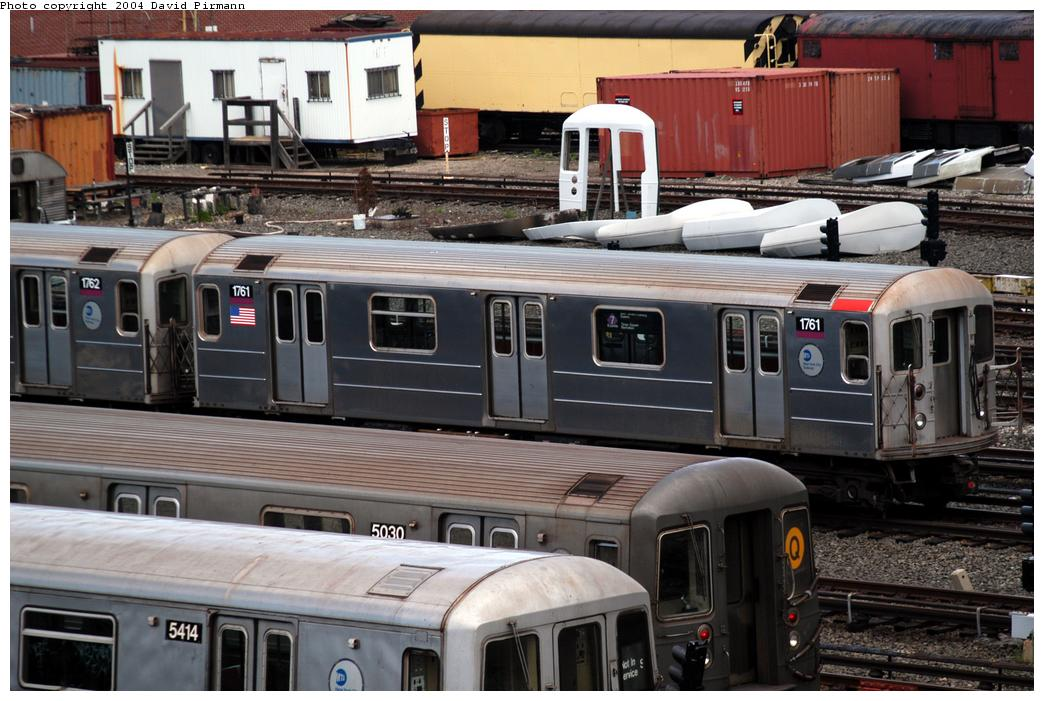(172k, 1044x701)<br><b>Country:</b> United States<br><b>City:</b> New York<br><b>System:</b> New York City Transit<br><b>Location:</b> Coney Island Yard<br><b>Car:</b> R-62A (Bombardier, 1984-1987)  1761 <br><b>Photo by:</b> David Pirmann<br><b>Date:</b> 6/13/2004<br><b>Viewed (this week/total):</b> 2 / 3226