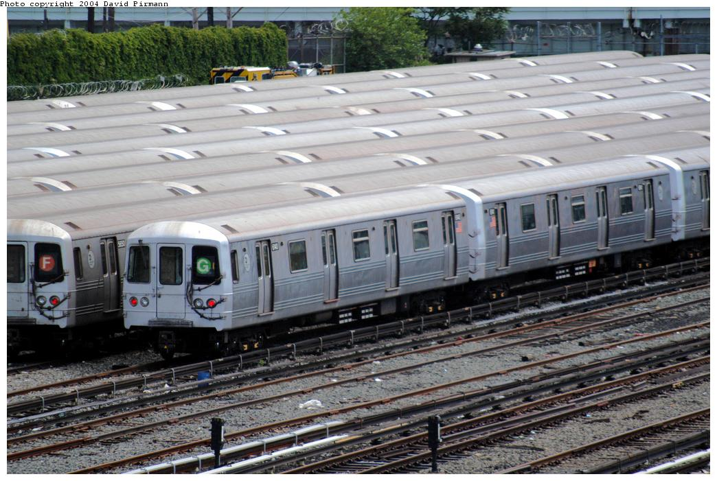 (182k, 1044x701)<br><b>Country:</b> United States<br><b>City:</b> New York<br><b>System:</b> New York City Transit<br><b>Location:</b> Coney Island Yard<br><b>Car:</b> R-46 (Pullman-Standard, 1974-75) 6140 <br><b>Photo by:</b> David Pirmann<br><b>Date:</b> 6/13/2004<br><b>Viewed (this week/total):</b> 1 / 6541