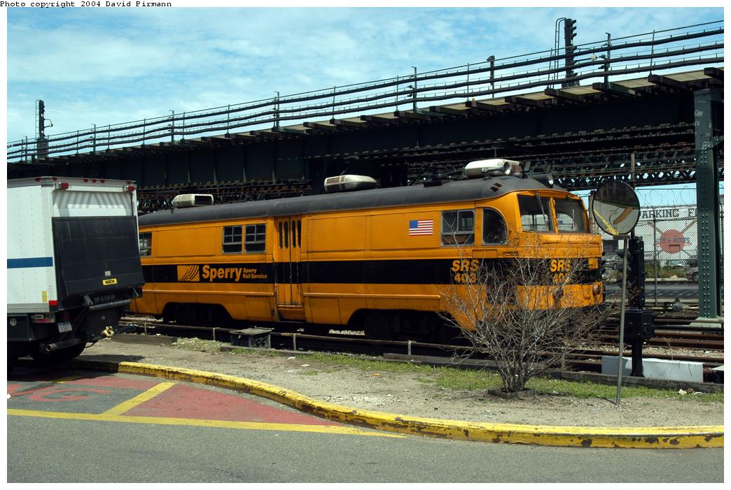 (190k, 1044x701)<br><b>Country:</b> United States<br><b>City:</b> New York<br><b>System:</b> New York City Transit<br><b>Location:</b> Coney Island Yard<br><b>Car:</b> Sperry Rail Service  403 <br><b>Photo by:</b> David Pirmann<br><b>Date:</b> 6/13/2004<br><b>Viewed (this week/total):</b> 0 / 3016