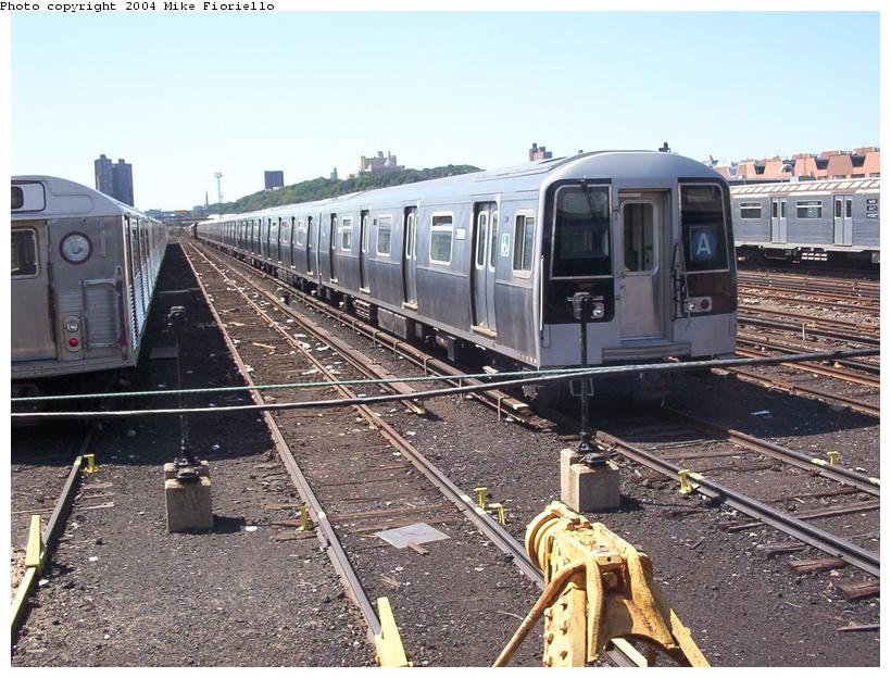 (113k, 820x624)<br><b>Country:</b> United States<br><b>City:</b> New York<br><b>System:</b> New York City Transit<br><b>Location:</b> 207th Street Yard<br><b>Car:</b> R-110B (Bombardier, 1992) 3009 <br><b>Photo by:</b> Mike Fioriello<br><b>Date:</b> 8/24/2003<br><b>Viewed (this week/total):</b> 5 / 6281