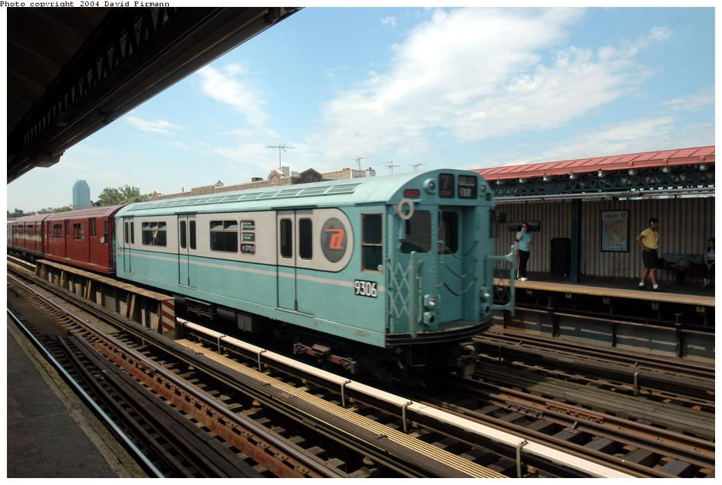 (162k, 1044x701)<br><b>Country:</b> United States<br><b>City:</b> New York<br><b>System:</b> New York City Transit<br><b>Line:</b> BMT Astoria Line<br><b>Location:</b> Broadway <br><b>Route:</b> Fan Trip<br><b>Car:</b> R-33 World's Fair (St. Louis, 1963-64) 9306 <br><b>Photo by:</b> David Pirmann<br><b>Date:</b> 6/19/2004<br><b>Viewed (this week/total):</b> 3 / 2557
