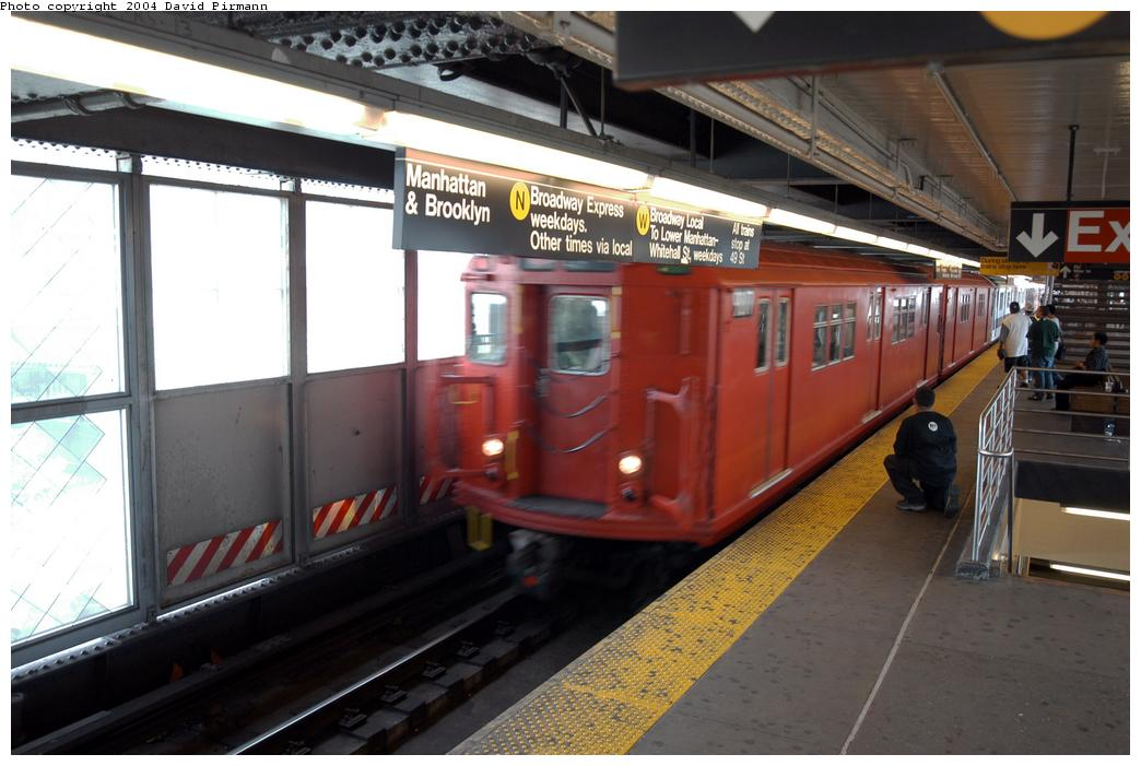 (148k, 1044x701)<br><b>Country:</b> United States<br><b>City:</b> New York<br><b>System:</b> New York City Transit<br><b>Line:</b> BMT Astoria Line<br><b>Location:</b> Queensborough Plaza <br><b>Route:</b> Fan Trip<br><b>Car:</b> R-33 Main Line (St. Louis, 1962-63) 9017 <br><b>Photo by:</b> David Pirmann<br><b>Date:</b> 6/19/2004<br><b>Viewed (this week/total):</b> 0 / 4443