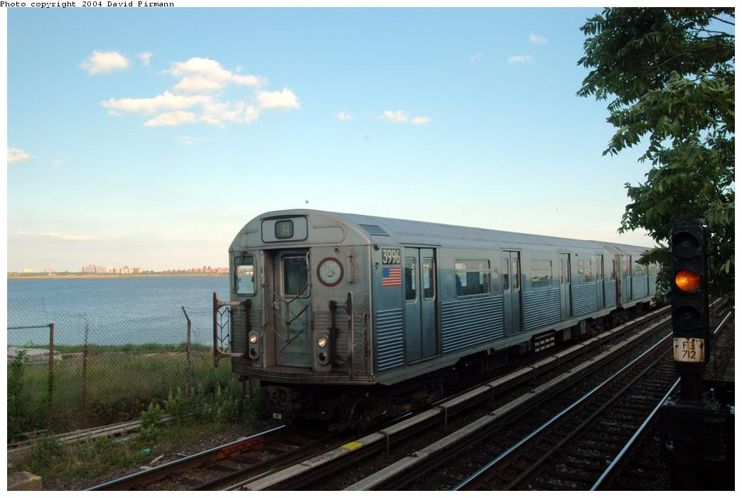 (134k, 1044x701)<br><b>Country:</b> United States<br><b>City:</b> New York<br><b>System:</b> New York City Transit<br><b>Line:</b> IND Rockaway<br><b>Location:</b> Broad Channel <br><b>Route:</b> A<br><b>Car:</b> R-38 (St. Louis, 1966-1967)  3996 <br><b>Photo by:</b> David Pirmann<br><b>Date:</b> 6/19/2004<br><b>Viewed (this week/total):</b> 0 / 2542