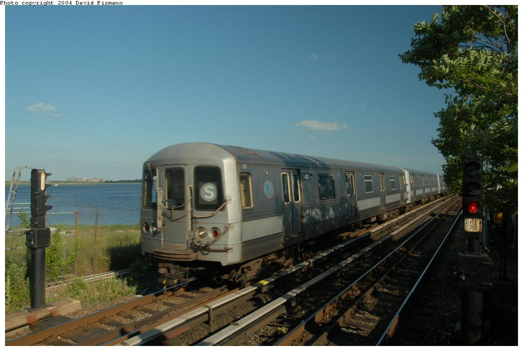 (141k, 1044x701)<br><b>Country:</b> United States<br><b>City:</b> New York<br><b>System:</b> New York City Transit<br><b>Line:</b> IND Rockaway<br><b>Location:</b> Broad Channel <br><b>Route:</b> S<br><b>Car:</b> R-44 (St. Louis, 1971-73) 5320 <br><b>Photo by:</b> David Pirmann<br><b>Date:</b> 6/19/2004<br><b>Viewed (this week/total):</b> 5 / 2550
