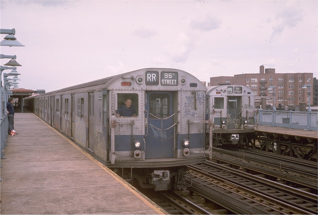 (173k, 1024x691)<br><b>Country:</b> United States<br><b>City:</b> New York<br><b>System:</b> New York City Transit<br><b>Line:</b> BMT Astoria Line<br><b>Location:</b> 30th/Grand Aves. <br><b>Route:</b> RR<br><b>Car:</b> R-30 (St. Louis, 1961) 8258 <br><b>Photo by:</b> Steve Zabel<br><b>Collection of:</b> Joe Testagrose<br><b>Date:</b> 7/23/1974<br><b>Viewed (this week/total):</b> 0 / 3301
