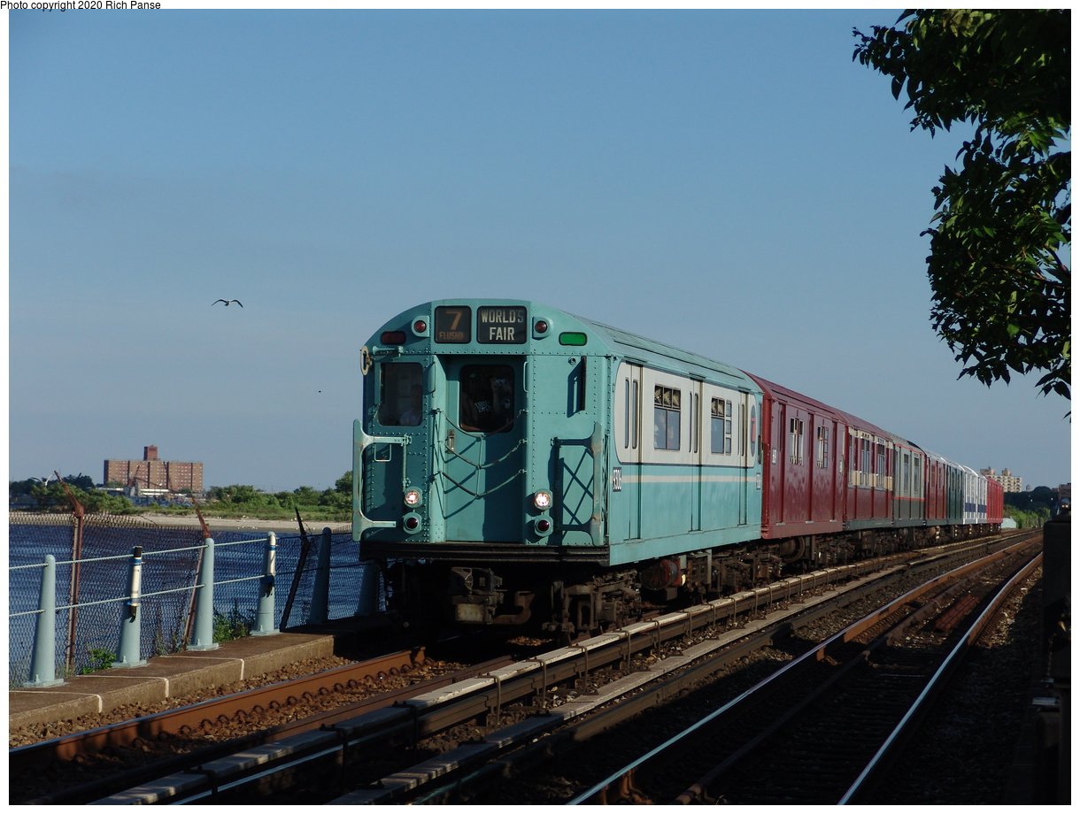 (83k, 820x620)<br><b>Country:</b> United States<br><b>City:</b> New York<br><b>System:</b> New York City Transit<br><b>Line:</b> IND Rockaway<br><b>Location:</b> Broad Channel <br><b>Route:</b> Fan Trip<br><b>Car:</b> R-33 World's Fair (St. Louis, 1963-64) 9306 <br><b>Photo by:</b> Richard Panse<br><b>Date:</b> 6/19/2004<br><b>Viewed (this week/total):</b> 1 / 1872