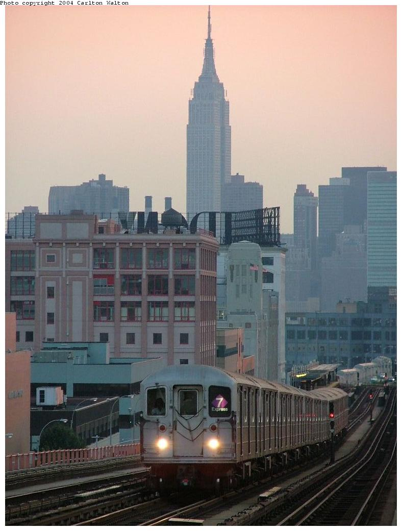 (109k, 788x1041)<br><b>Country:</b> United States<br><b>City:</b> New York<br><b>System:</b> New York City Transit<br><b>Line:</b> IRT Flushing Line<br><b>Location:</b> 40th Street/Lowery Street <br><b>Route:</b> 7<br><b>Car:</b> R-62A (Bombardier, 1984-1987)   <br><b>Photo by:</b> Carlton Walton<br><b>Date:</b> 6/24/2004<br><b>Viewed (this week/total):</b> 0 / 4672