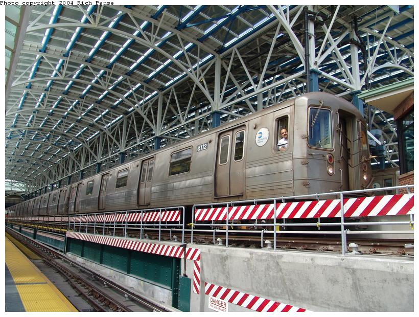 (154k, 820x620)<br><b>Country:</b> United States<br><b>City:</b> New York<br><b>System:</b> New York City Transit<br><b>Location:</b> Coney Island/Stillwell Avenue<br><b>Route:</b> Q<br><b>Car:</b> R-68A (Kawasaki, 1988-1989)  5112 <br><b>Photo by:</b> Richard Panse<br><b>Date:</b> 6/13/2004<br><b>Viewed (this week/total):</b> 1 / 3356