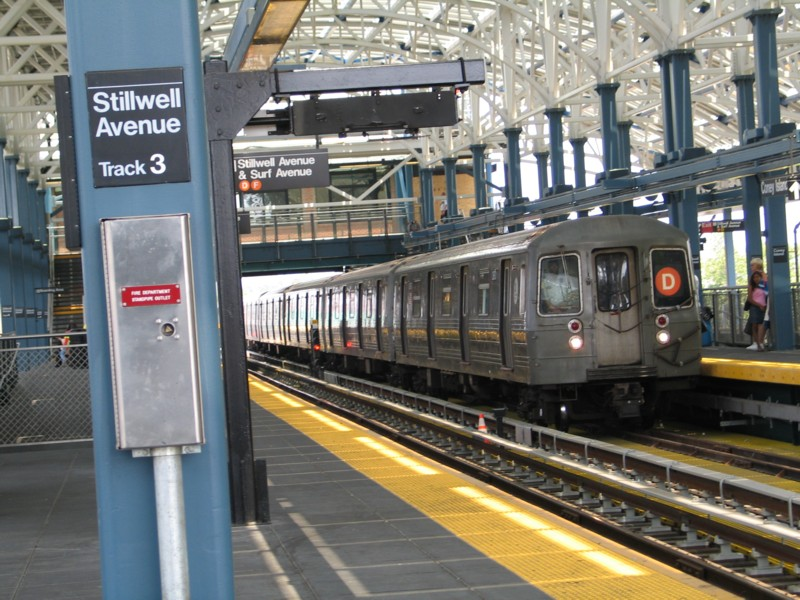 (160k, 800x600)<br><b>Country:</b> United States<br><b>City:</b> New York<br><b>System:</b> New York City Transit<br><b>Location:</b> Coney Island/Stillwell Avenue<br><b>Route:</b> D<br><b>Car:</b> R-68 (Westinghouse-Amrail, 1986-1988)  2670 <br><b>Photo by:</b> Neil Feldman<br><b>Date:</b> 7/1/2004<br><b>Viewed (this week/total):</b> 5 / 5015