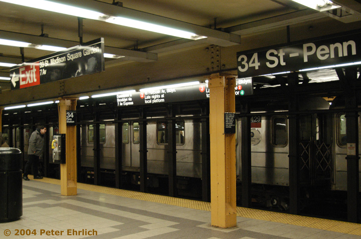 (144k, 720x478)<br><b>Country:</b> United States<br><b>City:</b> New York<br><b>System:</b> New York City Transit<br><b>Line:</b> IRT West Side Line<br><b>Location:</b> 34th Street/Penn Station <br><b>Route:</b> 3<br><b>Car:</b> R-62A (Bombardier, 1984-1987)  2429 <br><b>Photo by:</b> Peter Ehrlich<br><b>Date:</b> 12/25/2003<br><b>Viewed (this week/total):</b> 5 / 4833