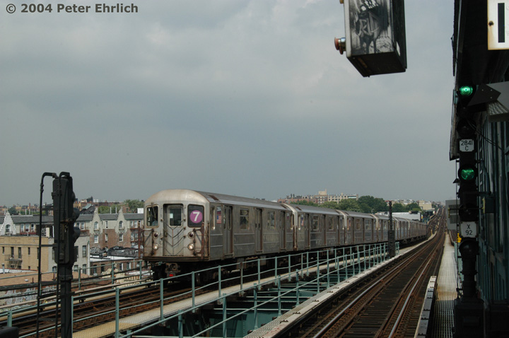 (118k, 720x478)<br><b>Country:</b> United States<br><b>City:</b> New York<br><b>System:</b> New York City Transit<br><b>Line:</b> IRT Flushing Line<br><b>Location:</b> 61st Street/Woodside <br><b>Route:</b> 7<br><b>Car:</b> R-62A (Bombardier, 1984-1987)  2064 <br><b>Photo by:</b> Peter Ehrlich<br><b>Date:</b> 7/19/2004<br><b>Viewed (this week/total):</b> 4 / 2631