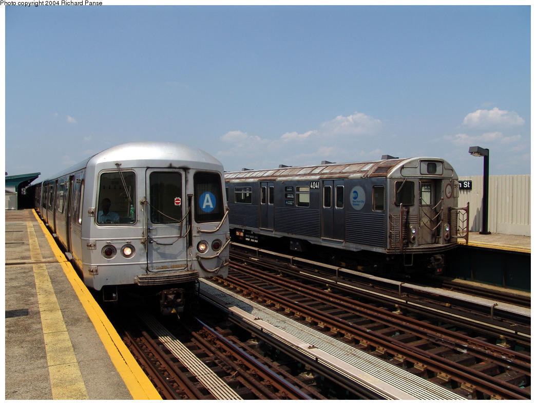 (161k, 1044x788)<br><b>Country:</b> United States<br><b>City:</b> New York<br><b>System:</b> New York City Transit<br><b>Line:</b> IND Fulton Street Line<br><b>Location:</b> 80th Street/Hudson Street <br><b>Route:</b> A<br><b>Car:</b> R-38 (St. Louis, 1966-1967)  4041 <br><b>Photo by:</b> Richard Panse<br><b>Date:</b> 7/17/2004<br><b>Viewed (this week/total):</b> 3 / 4244