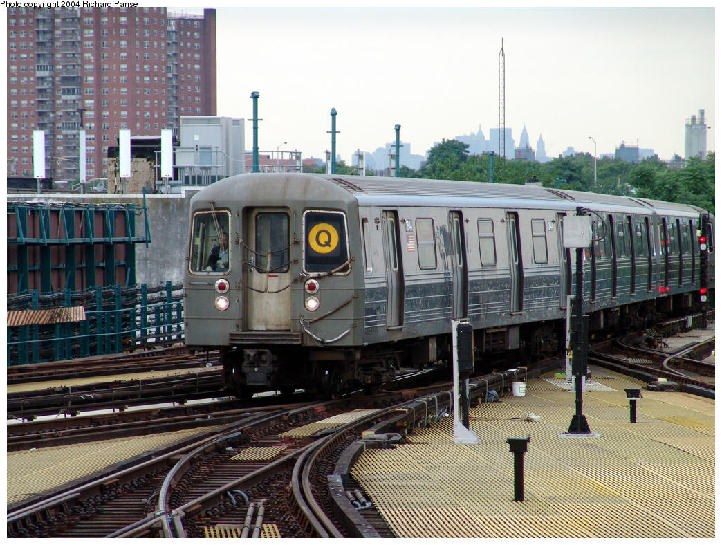 (214k, 1044x788)<br><b>Country:</b> United States<br><b>City:</b> New York<br><b>System:</b> New York City Transit<br><b>Location:</b> Coney Island/Stillwell Avenue<br><b>Route:</b> Q<br><b>Car:</b> R-68 (Westinghouse-Amrail, 1986-1988)  2844 <br><b>Photo by:</b> Richard Panse<br><b>Date:</b> 7/24/2004<br><b>Viewed (this week/total):</b> 2 / 4701