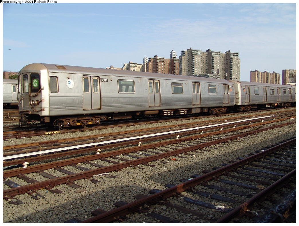 (197k, 1044x788)<br><b>Country:</b> United States<br><b>City:</b> New York<br><b>System:</b> New York City Transit<br><b>Location:</b> Coney Island Yard<br><b>Car:</b> R-46 (Pullman-Standard, 1974-75) 6004 <br><b>Photo by:</b> Richard Panse<br><b>Date:</b> 7/25/2004<br><b>Viewed (this week/total):</b> 1 / 4250