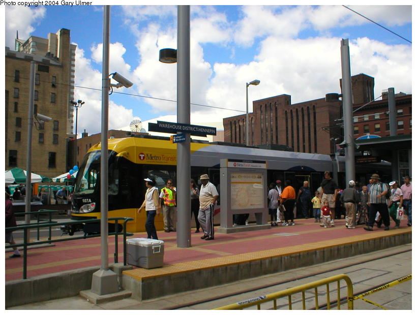 (101k, 820x620)<br><b>Country:</b> United States<br><b>City:</b> Minneapolis, MN<br><b>System:</b> MNDOT Light Rail Transit<br><b>Line:</b> Hiawatha Line<br><b>Location:</b> <b><u>Warehouse District/Hennepin Ave </b></u><br><b>Photo by:</b> Gary Ulmer<br><b>Date:</b> 6/24/2004<br><b>Viewed (this week/total):</b> 0 / 2278