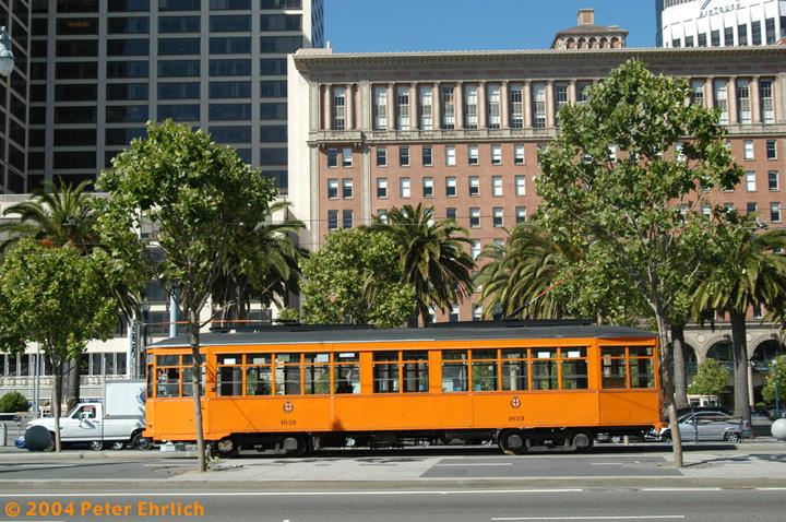 (224k, 720x478)<br><b>Country:</b> United States<br><b>City:</b> San Francisco/Bay Area, CA<br><b>System:</b> SF MUNI<br><b>Location:</b> Don Chee Way/Justin Herman Plaza <br><b>Car:</b> Milan Milano/Peter Witt (1927-1930)  1859 <br><b>Photo by:</b> Peter Ehrlich<br><b>Date:</b> 6/1/2004<br><b>Viewed (this week/total):</b> 0 / 1480