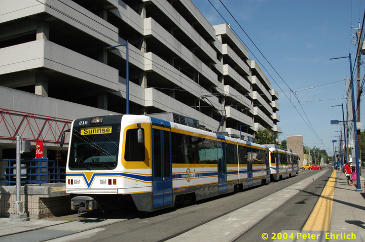 (164k, 720x478)<br><b>Country:</b> United States<br><b>City:</b> Sacramento, CA<br><b>System:</b> SACRT Light Rail<br><b>Location:</b> 16th Street <br><b>Car:</b> Sacramento CAF LRV  216 <br><b>Photo by:</b> Peter Ehrlich<br><b>Date:</b> 6/28/2004<br><b>Viewed (this week/total):</b> 1 / 1294