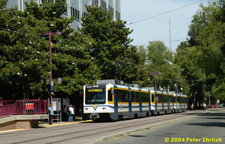 (222k, 720x461)<br><b>Country:</b> United States<br><b>City:</b> Sacramento, CA<br><b>System:</b> SACRT Light Rail<br><b>Location:</b> 8th & O <br><b>Car:</b> Sacramento CAF LRV  234 <br><b>Photo by:</b> Peter Ehrlich<br><b>Date:</b> 6/28/2004<br><b>Viewed (this week/total):</b> 1 / 1105