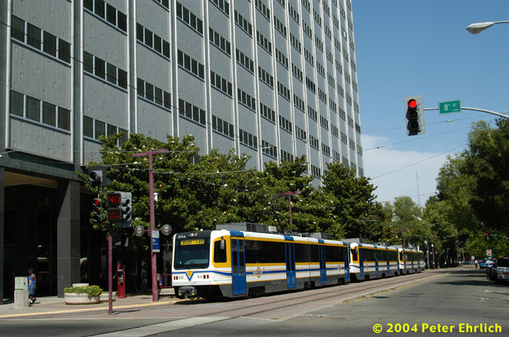 (182k, 720x478)<br><b>Country:</b> United States<br><b>City:</b> Sacramento, CA<br><b>System:</b> SACRT Light Rail<br><b>Location:</b> 8th & O <br><b>Car:</b> Sacramento CAF LRV  234 <br><b>Photo by:</b> Peter Ehrlich<br><b>Date:</b> 6/28/2004<br><b>Viewed (this week/total):</b> 0 / 1048