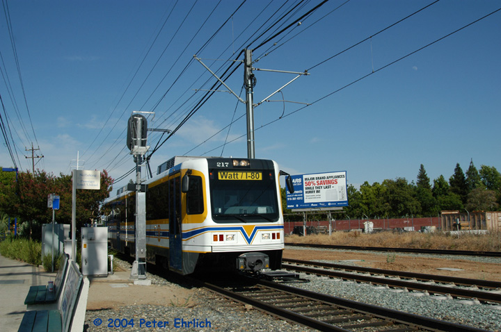 (154k, 720x478)<br><b>Country:</b> United States<br><b>City:</b> Sacramento, CA<br><b>System:</b> SACRT Light Rail<br><b>Location:</b> Tiber <br><b>Car:</b> Sacramento CAF LRV  217 <br><b>Photo by:</b> Peter Ehrlich<br><b>Date:</b> 6/27/2004<br><b>Viewed (this week/total):</b> 1 / 1087