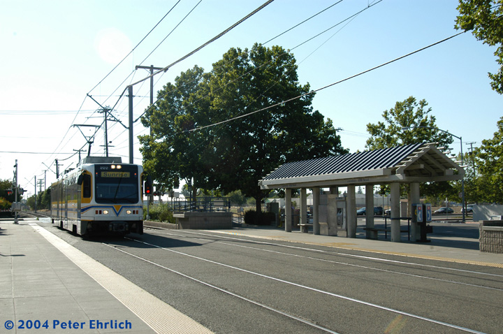(171k, 720x478)<br><b>Country:</b> United States<br><b>City:</b> Sacramento, CA<br><b>System:</b> SACRT Light Rail<br><b>Location:</b> University/65th <br><b>Car:</b> Sacramento CAF LRV  222 <br><b>Photo by:</b> Peter Ehrlich<br><b>Date:</b> 6/27/2004<br><b>Viewed (this week/total):</b> 2 / 1180