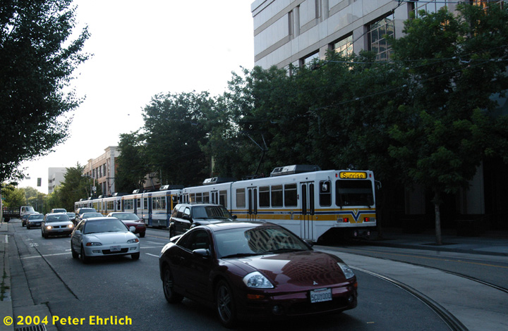 (153k, 720x470)<br><b>Country:</b> United States<br><b>City:</b> Sacramento, CA<br><b>System:</b> SACRT Light Rail<br><b>Location:</b> 12th & K <br><b>Car:</b> Sacramento Siemens LRV  110 <br><b>Photo by:</b> Peter Ehrlich<br><b>Date:</b> 6/28/2004<br><b>Viewed (this week/total):</b> 0 / 1552