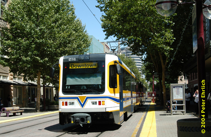 (218k, 720x466)<br><b>Country:</b> United States<br><b>City:</b> Sacramento, CA<br><b>System:</b> SACRT Light Rail<br><b>Location:</b> 8th & K <br><b>Car:</b> Sacramento CAF LRV  231 <br><b>Photo by:</b> Peter Ehrlich<br><b>Date:</b> 6/28/2004<br><b>Viewed (this week/total):</b> 1 / 1355