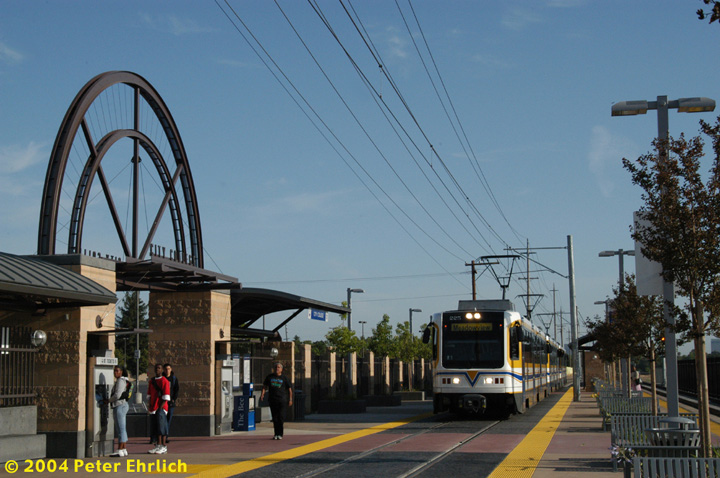 (143k, 720x478)<br><b>Country:</b> United States<br><b>City:</b> Sacramento, CA<br><b>System:</b> SACRT Light Rail<br><b>Location:</b> City College <br><b>Car:</b> Sacramento CAF LRV  225 <br><b>Photo by:</b> Peter Ehrlich<br><b>Date:</b> 6/28/2004<br><b>Viewed (this week/total):</b> 2 / 1125