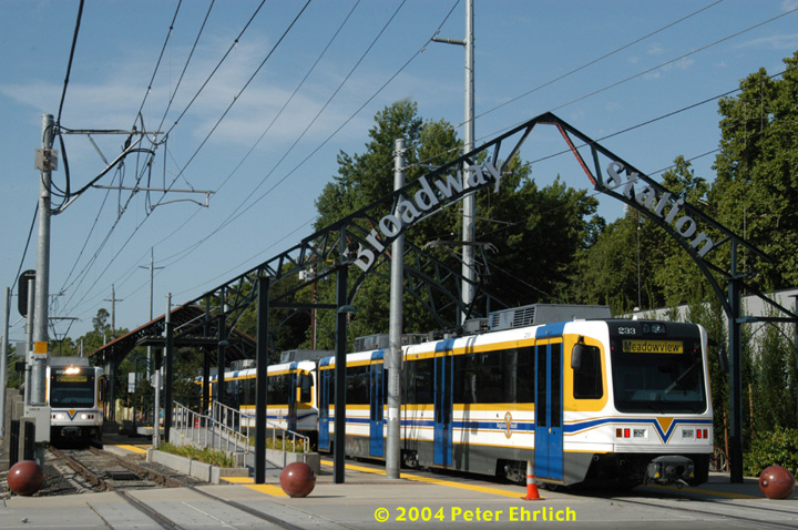 (177k, 720x478)<br><b>Country:</b> United States<br><b>City:</b> Sacramento, CA<br><b>System:</b> SACRT Light Rail<br><b>Location:</b> Broadway <br><b>Car:</b> Sacramento CAF LRV  229/233 <br><b>Photo by:</b> Peter Ehrlich<br><b>Date:</b> 6/28/2004<br><b>Viewed (this week/total):</b> 2 / 1146