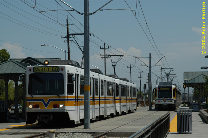 (131k, 720x478)<br><b>Country:</b> United States<br><b>City:</b> Sacramento, CA<br><b>System:</b> SACRT Light Rail<br><b>Location:</b> Sunrise <br><b>Car:</b> Sacramento Siemens LRV  129/217 <br><b>Photo by:</b> Peter Ehrlich<br><b>Date:</b> 6/28/2004<br><b>Viewed (this week/total):</b> 0 / 1007