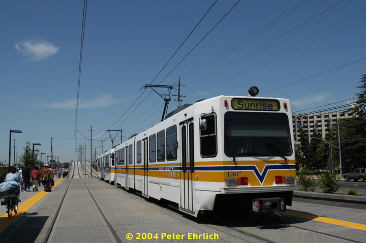 (128k, 720x478)<br><b>Country:</b> United States<br><b>City:</b> Sacramento, CA<br><b>System:</b> SACRT Light Rail<br><b>Location:</b> Sunrise <br><b>Car:</b> Sacramento Siemens LRV  130 <br><b>Photo by:</b> Peter Ehrlich<br><b>Date:</b> 6/28/2004<br><b>Viewed (this week/total):</b> 0 / 1246