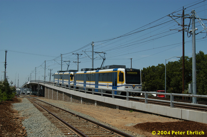 (150k, 720x478)<br><b>Country:</b> United States<br><b>City:</b> Sacramento, CA<br><b>System:</b> SACRT Light Rail<br><b>Location:</b> Sunrise <br><b>Car:</b> Sacramento CAF LRV  212 <br><b>Photo by:</b> Peter Ehrlich<br><b>Date:</b> 6/28/2004<br><b>Viewed (this week/total):</b> 0 / 1403