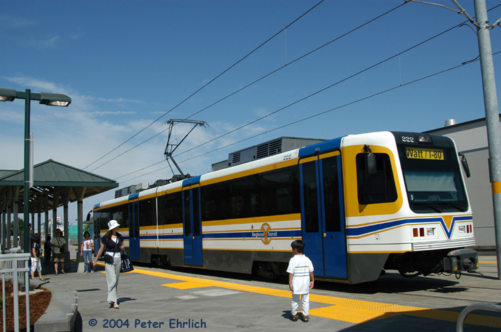 (135k, 720x478)<br><b>Country:</b> United States<br><b>City:</b> Sacramento, CA<br><b>System:</b> SACRT Light Rail<br><b>Location:</b> Sunrise <br><b>Car:</b> Sacramento CAF LRV  222 <br><b>Photo by:</b> Peter Ehrlich<br><b>Date:</b> 6/27/2004<br><b>Viewed (this week/total):</b> 0 / 1007
