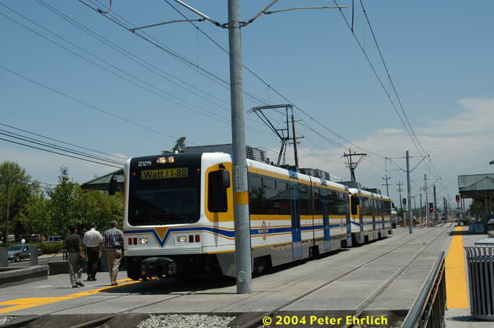 (137k, 720x478)<br><b>Country:</b> United States<br><b>City:</b> Sacramento, CA<br><b>System:</b> SACRT Light Rail<br><b>Location:</b> Sunrise <br><b>Car:</b> Sacramento CAF LRV  228 <br><b>Photo by:</b> Peter Ehrlich<br><b>Date:</b> 6/28/2004<br><b>Viewed (this week/total):</b> 0 / 1263