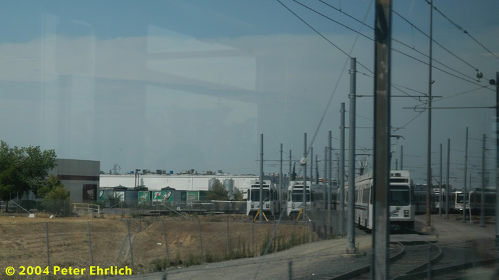 (81k, 720x404)<br><b>Country:</b> United States<br><b>City:</b> Sacramento, CA<br><b>System:</b> SACRT Light Rail<br><b>Location:</b> Swanston <br><b>Photo by:</b> Peter Ehrlich<br><b>Date:</b> 6/28/2004<br><b>Notes:</b> Sacramento Regional Transit purchased 21 used UTDC LRVs from Santa Clara VTA for use when future extensions to the Airport and on the South Line come into service.  They were built in 1987 and need to be modified for Sacramento service.<br><b>Viewed (this week/total):</b> 1 / 1892
