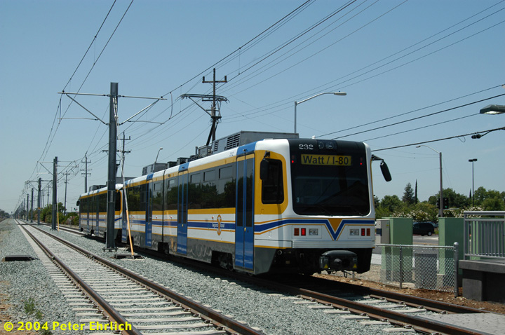 (151k, 720x478)<br><b>Country:</b> United States<br><b>City:</b> Sacramento, CA<br><b>System:</b> SACRT Light Rail<br><b>Location:</b> Zinfandel <br><b>Car:</b> Sacramento CAF LRV  232 <br><b>Photo by:</b> Peter Ehrlich<br><b>Date:</b> 6/28/2004<br><b>Viewed (this week/total):</b> 0 / 1417