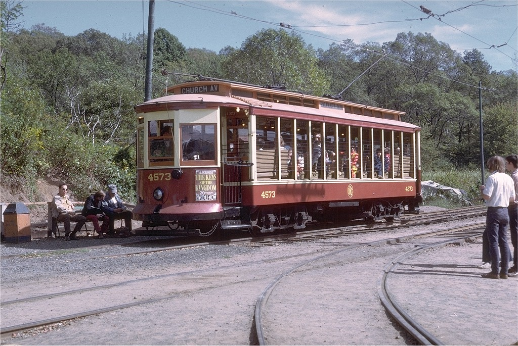 (297k, 1024x685)<br><b>Country:</b> United States<br><b>City:</b> East Haven/Branford, Ct.<br><b>System:</b> Shore Line Trolley Museum <br><b>Car:</b> B&QT/BMT 4573 <br><b>Photo by:</b> Doug Grotjahn<br><b>Collection of:</b> Joe Testagrose<br><b>Date:</b> 9/23/1972<br><b>Viewed (this week/total):</b> 0 / 1321