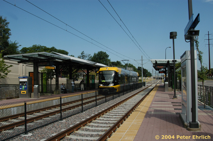 (159k, 720x478)<br><b>Country:</b> United States<br><b>City:</b> Minneapolis, MN<br><b>System:</b> MNDOT Light Rail Transit<br><b>Line:</b> Hiawatha Line<br><b>Location:</b> <b><u>50th Street/Minnehaha Park </b></u><br><b>Car:</b> Bombardier Flexity Swift  102 <br><b>Photo by:</b> Peter Ehrlich<br><b>Date:</b> 8/2/2004<br><b>Viewed (this week/total):</b> 0 / 1517