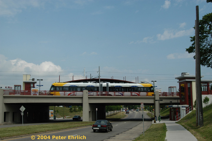 (105k, 720x478)<br><b>Country:</b> United States<br><b>City:</b> Minneapolis, MN<br><b>System:</b> MNDOT Light Rail Transit<br><b>Line:</b> Hiawatha Line<br><b>Location:</b> <b><u>Franklin Avenue </b></u><br><b>Car:</b> Bombardier Flexity Swift  102 <br><b>Photo by:</b> Peter Ehrlich<br><b>Date:</b> 8/2/2004<br><b>Viewed (this week/total):</b> 2 / 1945