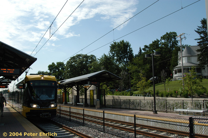 (176k, 720x478)<br><b>Country:</b> United States<br><b>City:</b> Minneapolis, MN<br><b>System:</b> MNDOT Light Rail Transit<br><b>Line:</b> Hiawatha Line<br><b>Location:</b> <b><u>50th Street/Minnehaha Park </b></u><br><b>Car:</b> Bombardier Flexity Swift  107 <br><b>Photo by:</b> Peter Ehrlich<br><b>Date:</b> 8/2/2004<br><b>Viewed (this week/total):</b> 0 / 1196