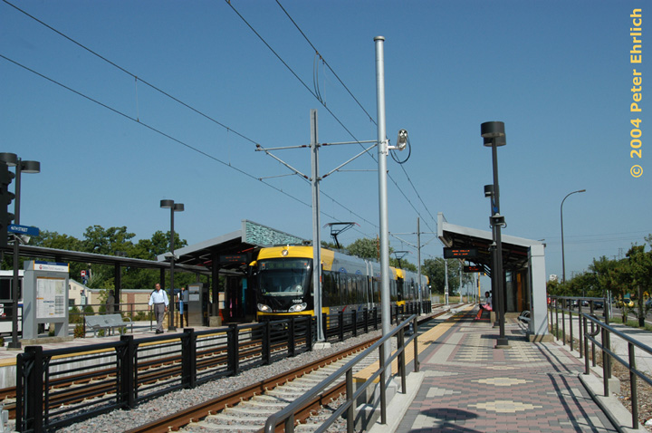 (147k, 720x478)<br><b>Country:</b> United States<br><b>City:</b> Minneapolis, MN<br><b>System:</b> MNDOT Light Rail Transit<br><b>Line:</b> Hiawatha Line<br><b>Location:</b> <b><u>46th Street </b></u><br><b>Car:</b> Bombardier Flexity Swift  109 <br><b>Photo by:</b> Peter Ehrlich<br><b>Date:</b> 8/2/2004<br><b>Viewed (this week/total):</b> 2 / 1198
