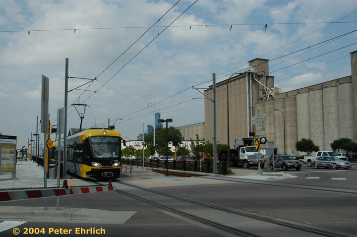 (124k, 720x478)<br><b>Country:</b> United States<br><b>City:</b> Minneapolis, MN<br><b>System:</b> MNDOT Light Rail Transit<br><b>Line:</b> Hiawatha Line<br><b>Location:</b> <b><u>38th Street </b></u><br><b>Car:</b> Bombardier Flexity Swift  109 <br><b>Photo by:</b> Peter Ehrlich<br><b>Date:</b> 8/2/2004<br><b>Viewed (this week/total):</b> 0 / 1391
