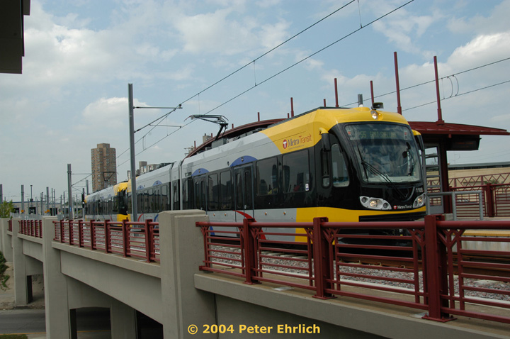 (130k, 720x478)<br><b>Country:</b> United States<br><b>City:</b> Minneapolis, MN<br><b>System:</b> MNDOT Light Rail Transit<br><b>Line:</b> Hiawatha Line<br><b>Location:</b> <b><u>Franklin Avenue </b></u><br><b>Car:</b> Bombardier Flexity Swift  110 <br><b>Photo by:</b> Peter Ehrlich<br><b>Date:</b> 8/2/2004<br><b>Viewed (this week/total):</b> 2 / 1446